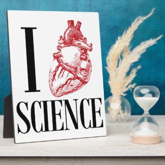 I heart science plaque