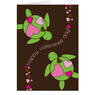 I Heart Sea Turtles Valentines Day Card 5 x 7