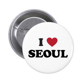 I Heart Seoul South Korea 2 Inch Round Button