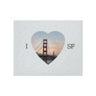 I Heart SF Gallery Wrap Canvas