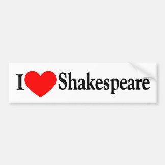 I Heart Shakespeare Bumper Sticker