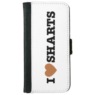 I Heart Sharts Funny Graphic iPhone 6 Wallet Case