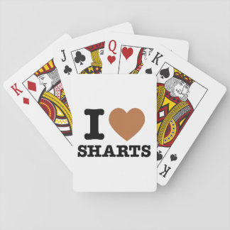 I Heart Sharts Funny Icon Graphic Playing Cards