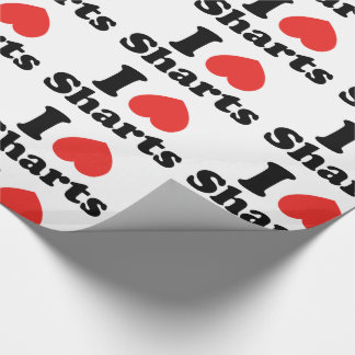 I Heart Sharts Wrapping Paper