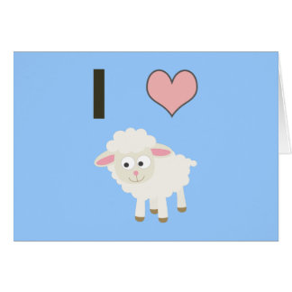 I heart Sheep Card