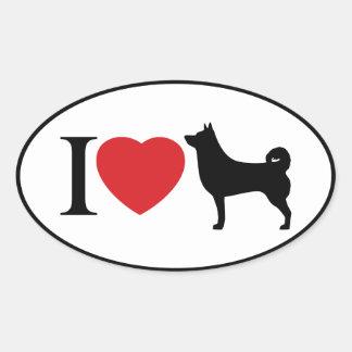 I Heart Shiba Inu - Oval Sticker