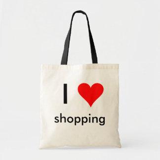 i heart shopping budget tote bag