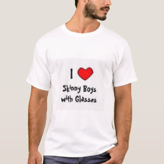 I Heart Skinny Boys with Glasses T-Shirt