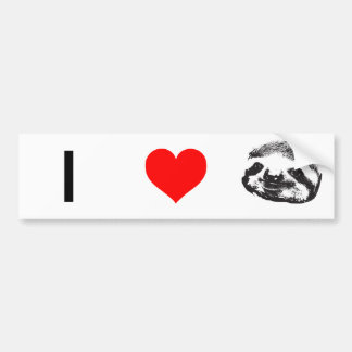 I (Heart Sloths) Bumper Sticker