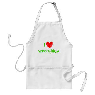 I heart smoothies apron for healthy lifestyle fans