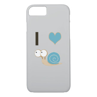 I heart snails - blue iPhone 7 case