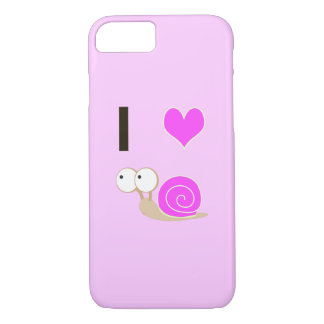 I heart Snails - Pink iPhone 8/7 Case