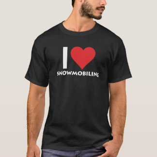 I Heart Snowmobiling Extreme Winter Sports T-Shirt