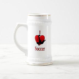 I Heart Soccer Beer Stein
