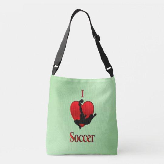 I Heart Soccer Crossbody Bag
