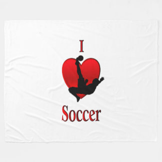 I Heart Soccer Fleece Blanket