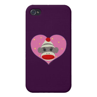 I Heart Sock Monkey iPhone Case Cover For iPhone 4