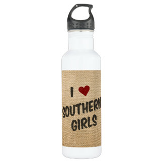 I Heart Southern Girls Burlap