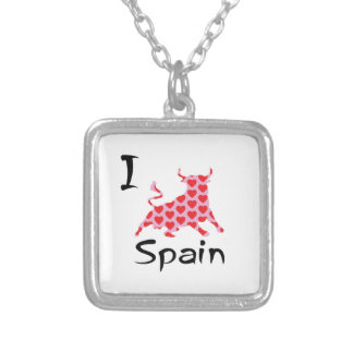 I heart Spain Silver Plated Necklace