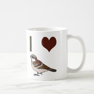 I heart sparrows coffee mug