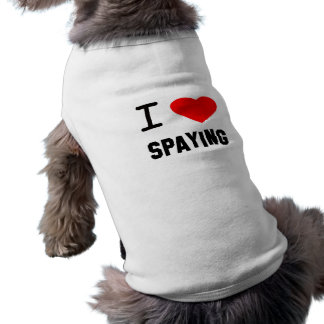I Heart spaying Dog Clothes