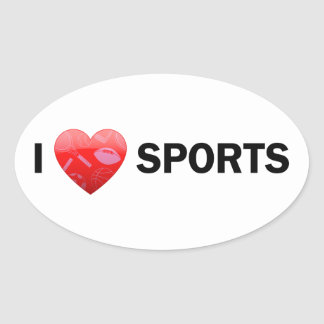 I Heart Sports Stickers