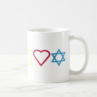 I Heart Star of David Coffee Mug