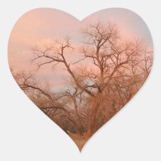 I heart stickers, I heart nature, I heart trees Heart Sticker