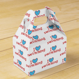 I heart Swimming for Swimmers Favor Box