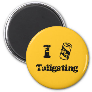 I Heart Tailgating with Beer Can - Any Team Colors 2 Inch Round Magnet