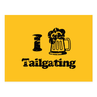 I Heart Tailgating with Beer Mug - Any Team Colors Postcard