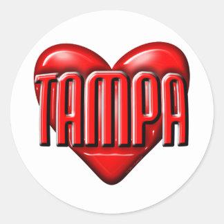 I Heart Tampa Classic Round Sticker
