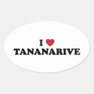 I Heart Tananarive Madagascar Oval Sticker