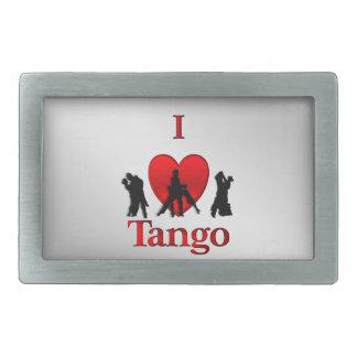 I Heart  Tango Dance Design Rectangular Belt Buckle