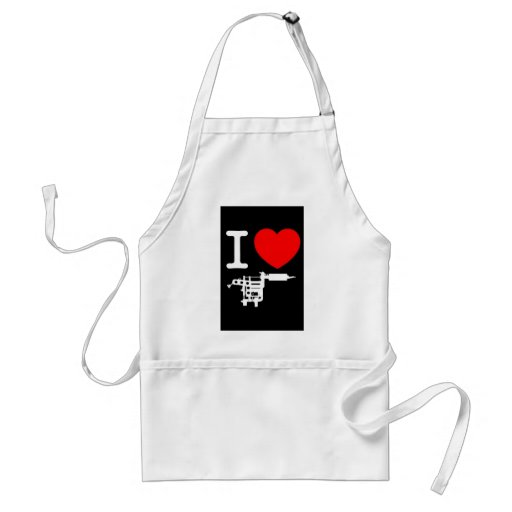 i heart tattoo products aprons