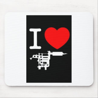 i heart tattoo products mouse pad