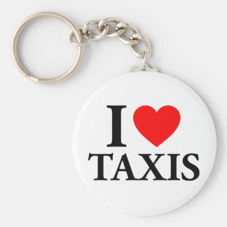 I Heart Taxis Keychain