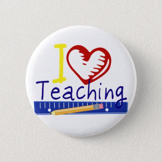 I (Heart) Teaching 2 Inch Round Button