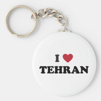 I Heart Tehran Iran Basic Round Button Keychain