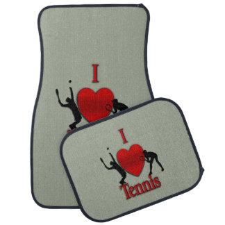 I Heart Tennis Car Mat
