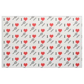 I heart tennis fabric