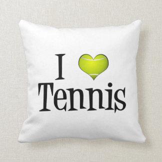 I Heart Tennis Throw Pillow