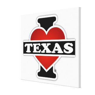 I Heart Texas Canvas Prints