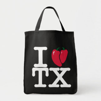 I heart Texas with chilis tote Grocery Tote Bag