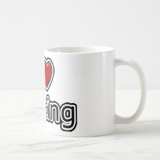 I Heart Texting Basic White Mug