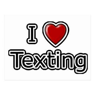 I Heart Texting Postcard