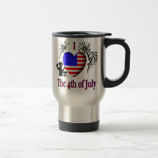 I Heart the 4th of July Travel Mug