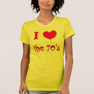 I Heart The 70's Vintage Style T-shirt