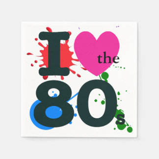 I Heart the 80s Disposable Napkins