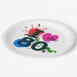 I Heart the 80s Paper Plate
